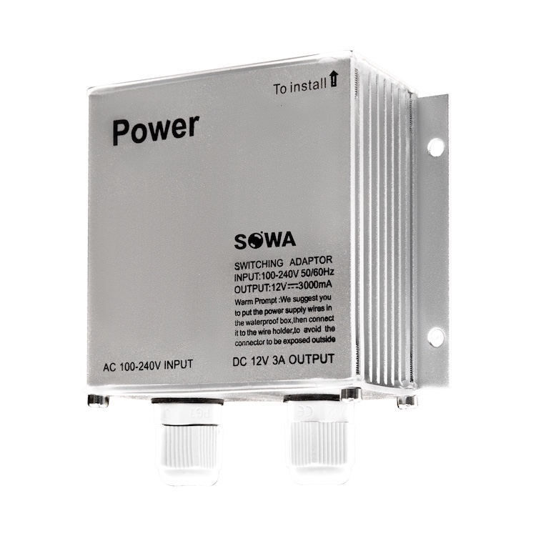 Блок питания SOWA БП 12-3 # IN:AC220V OUT:DC12V 3A, IP67